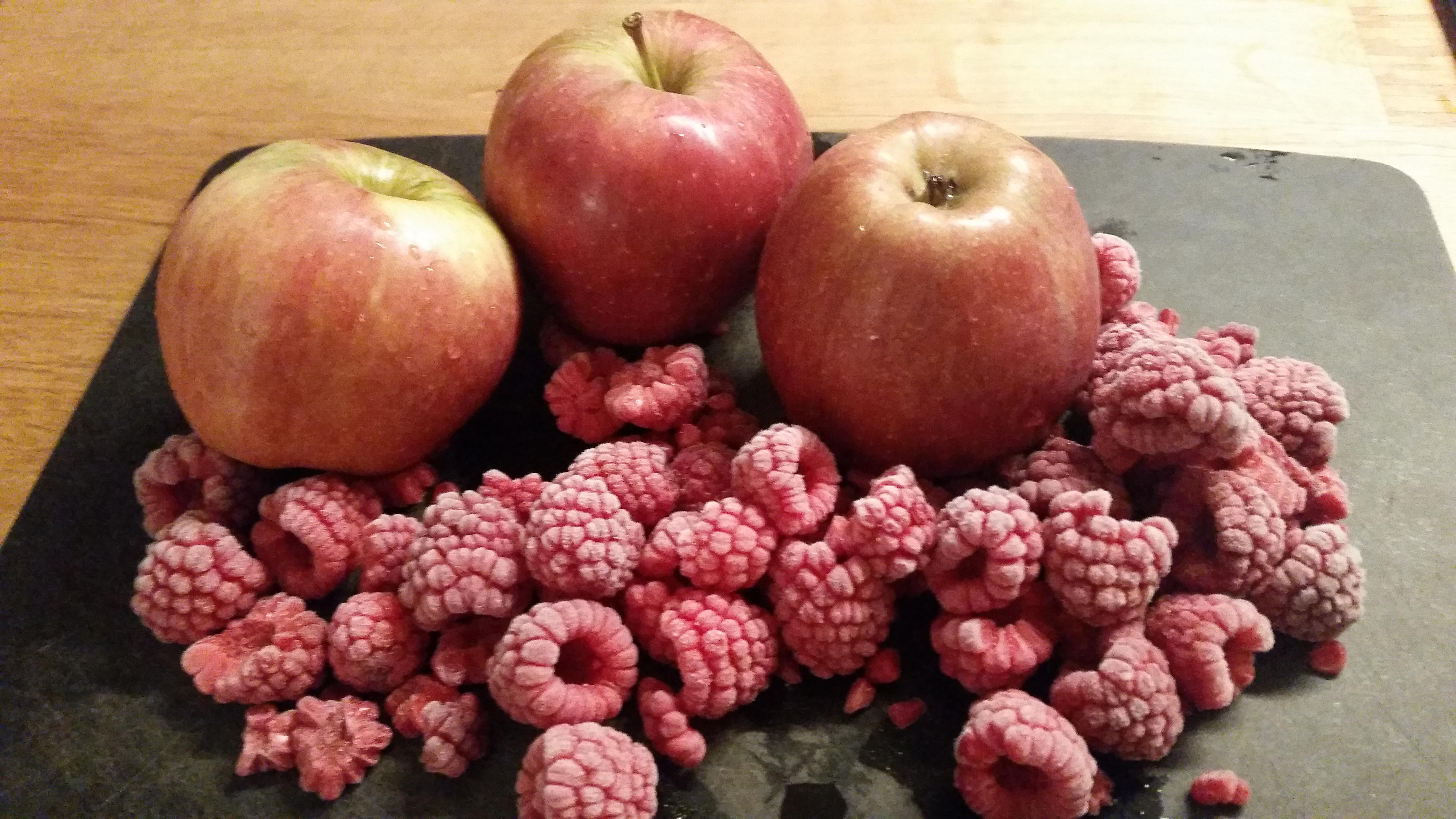 Compote pommes-framboises