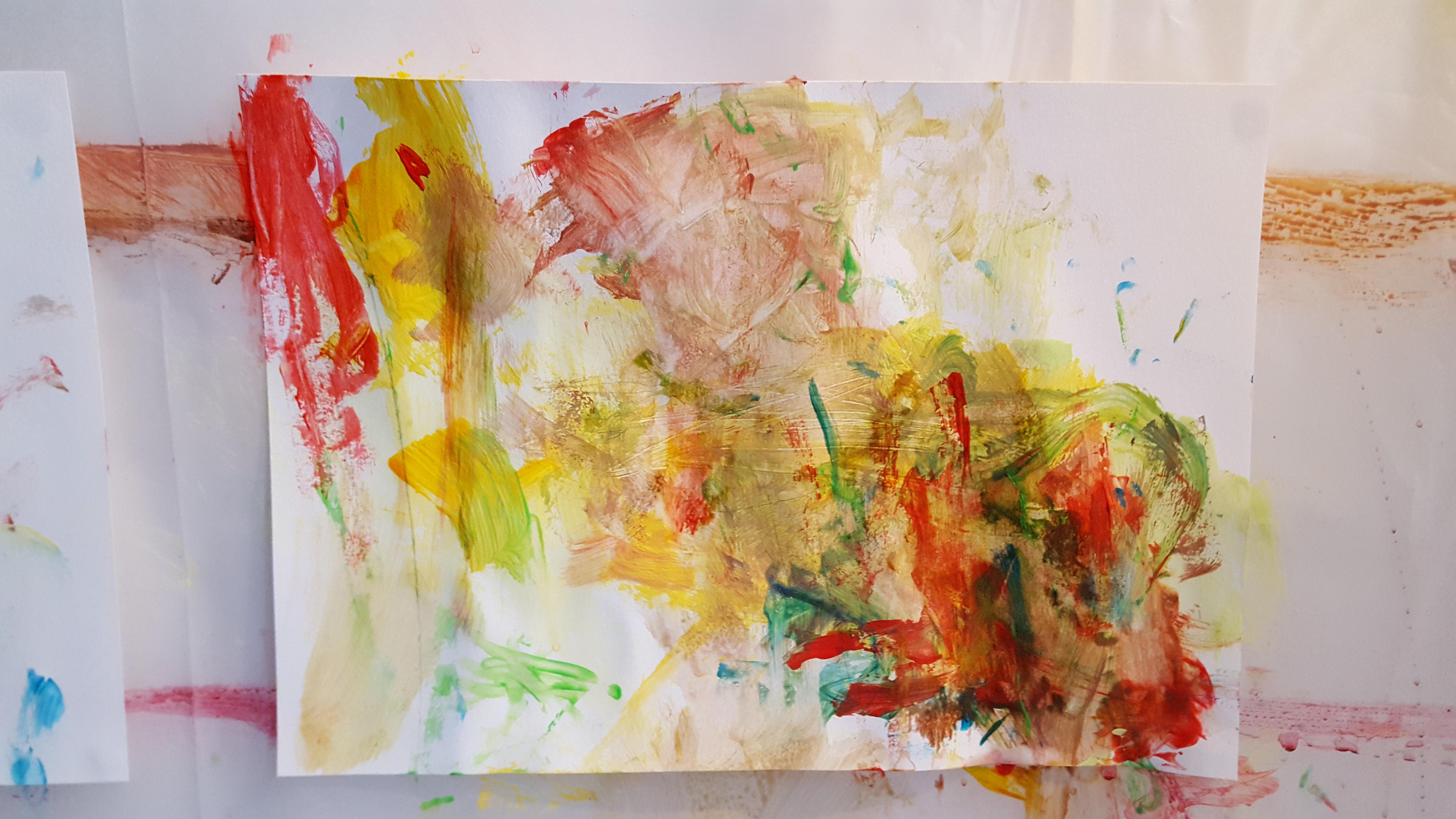 Peinture pour enfant de 20 mois